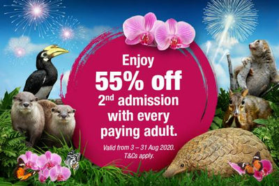 Wildlife Reserves Singapore: 55% Off 2nd Admission National Day Promotion