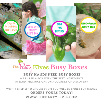 "The Party Elves: 2 Mix ""n"" Match Busy Boxes @ $40, include Delivery(U.P. $50)"