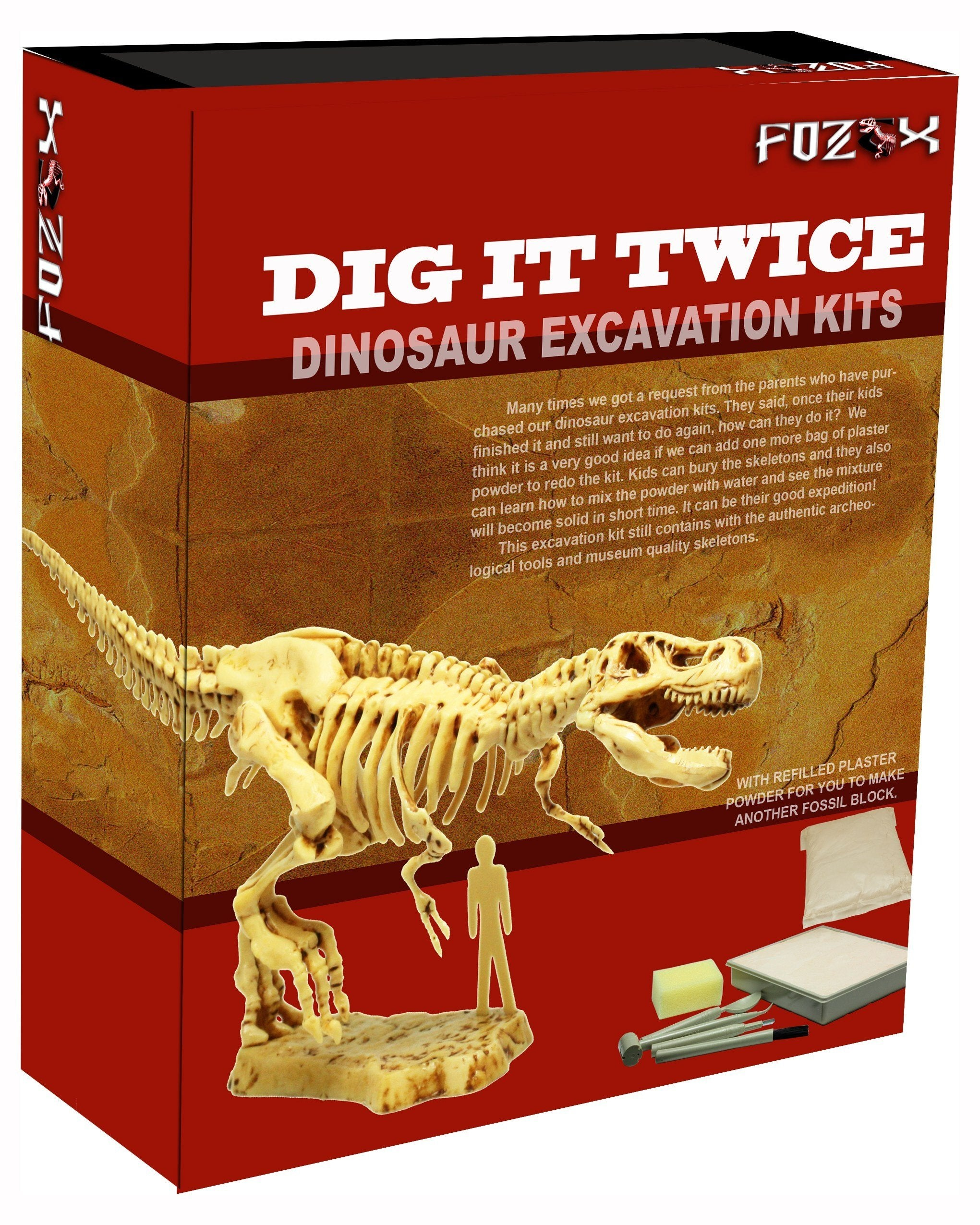Mr Bottle's Kids Party - Dinosaur Skeleton Dig it Twice Fossil Digging Set @ $28 U.P $36.90