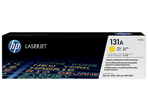 Hewlett Packard  OEM Yellow Toner Cartridge - CF212A