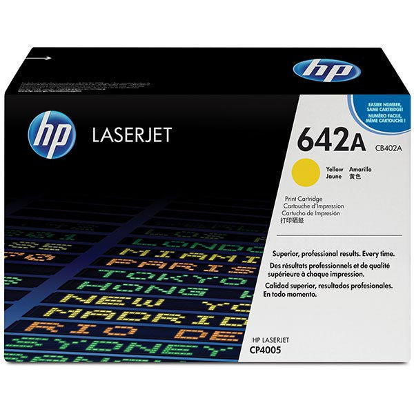 Hewlett Packard OEM Yellow Toner Cartridge - CB402A