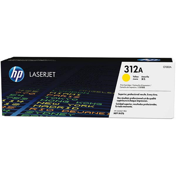 Hewlett Packard OEM Yellow Toner Cartridge - CF382A