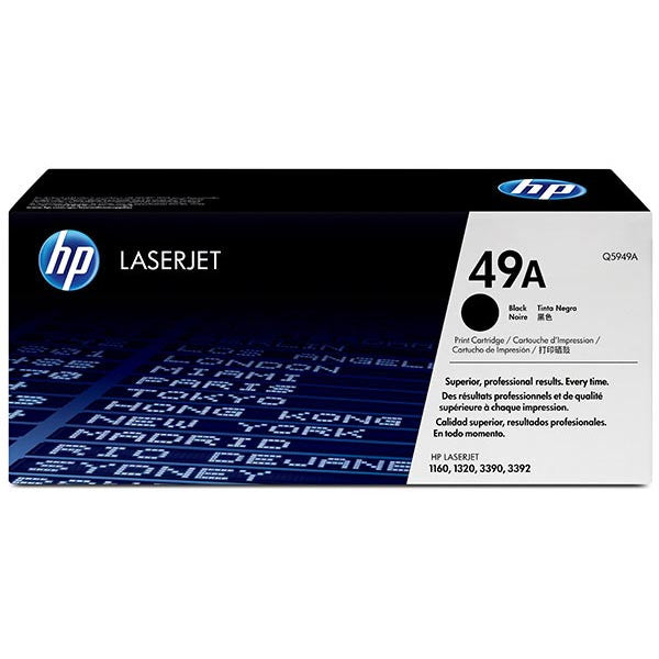 Hewlett Packard OEM Black Toner Cartridge - Q5949A