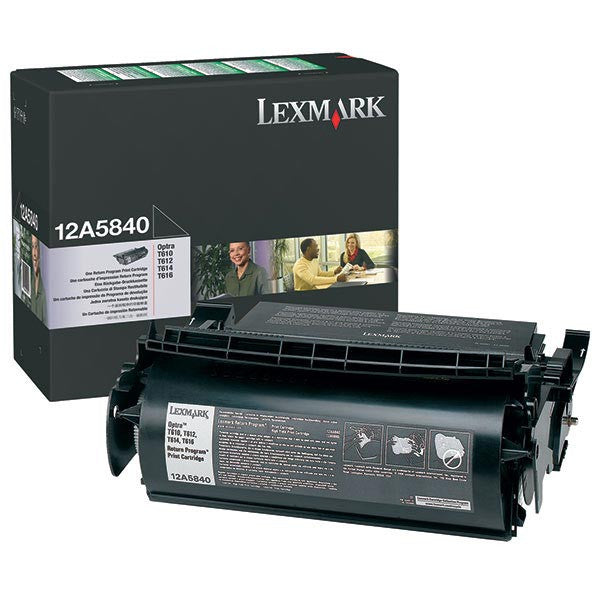 Lexmark OEM Black Toner Cartridge - 12A5840