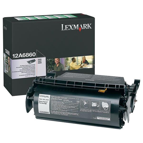 Lexmark OEM Black Toner Cartridge - 12A6860
