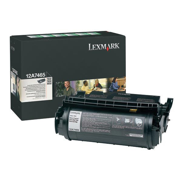 Lexmark OEM Black Toner Cartridge - 12A7465