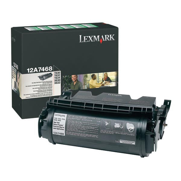 Lexmark OEM Black Toner Cartridge - 12A7468