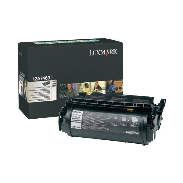 Lexmark OEM Black Toner Cartridge - 12A7469