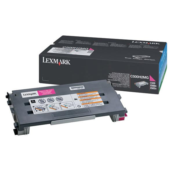 Lexmark Magenta Toner Cartridge C500H2MG