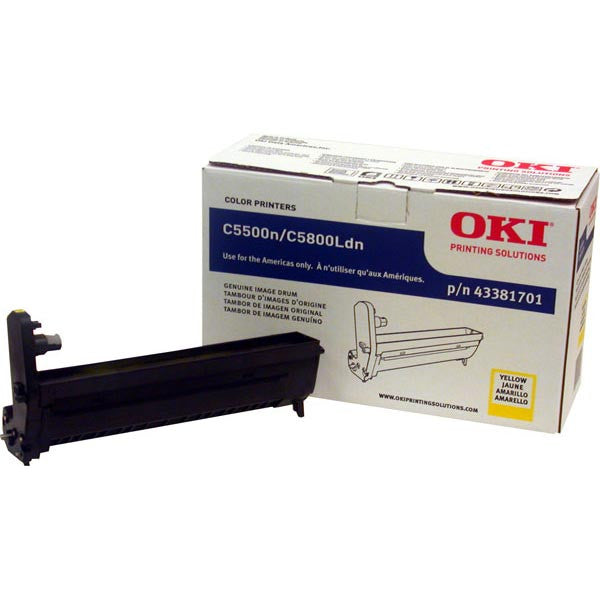 Okidata Yellow OEM Drum Cartridge 43381701