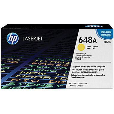 Hewlett Packard OEM Yellow Toner Cartridge - CE262A
