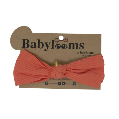 Ribbed One-sided Knot Bow Mini