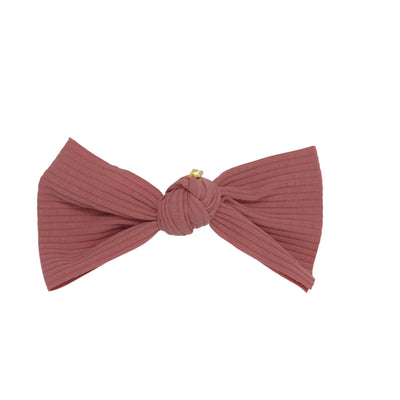 Ribbed One-sided Knot Bow Small Hairpin