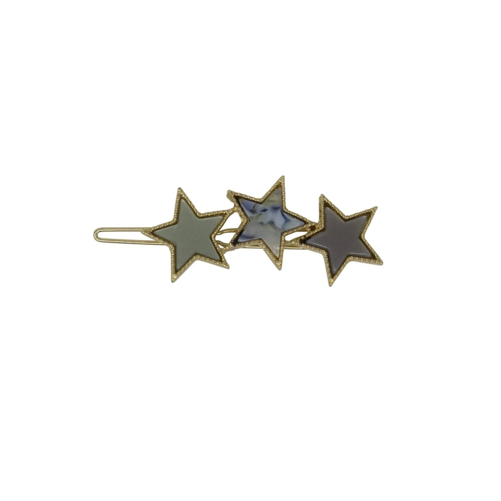 Triple Colored Star Clip