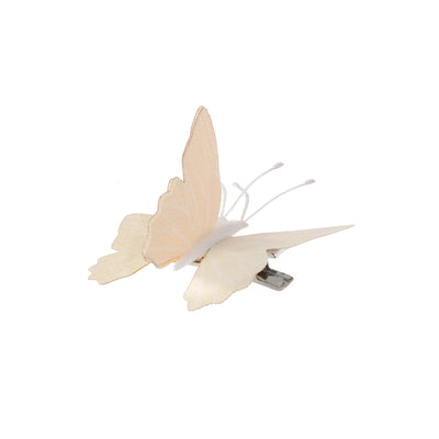 Small Butter Flutter Hairpin - White Edition