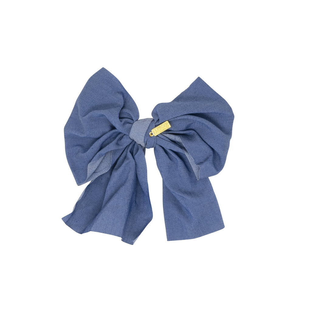 Denim Bow Hairpin