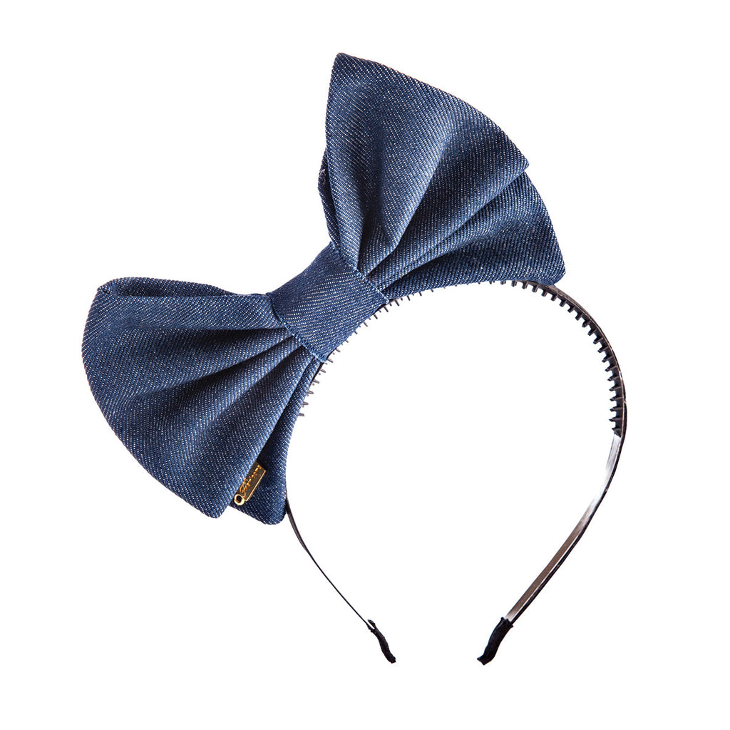 Denim Pop-up Bow