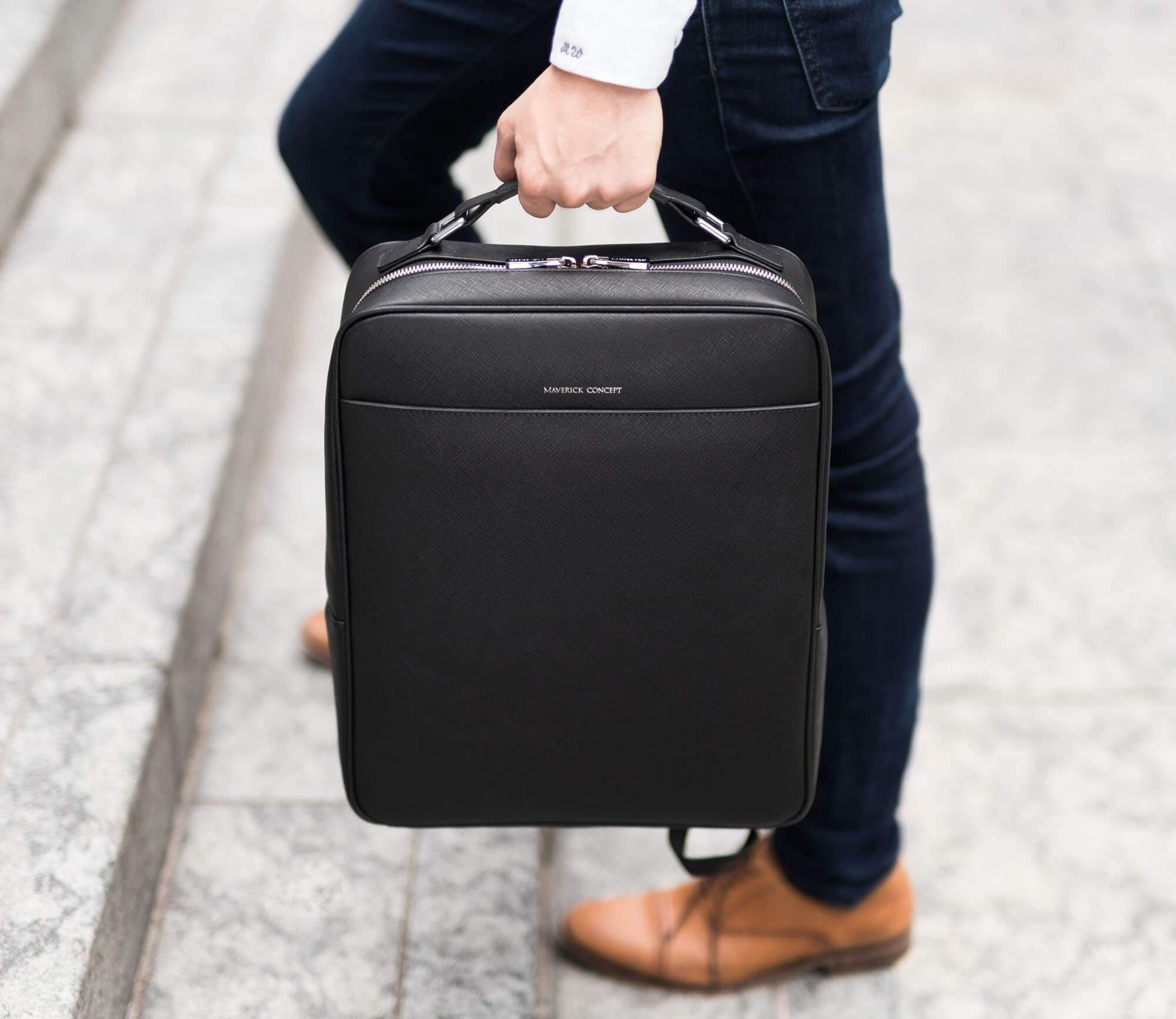 Maverick & Co. Black Metropolitan Business Backpack