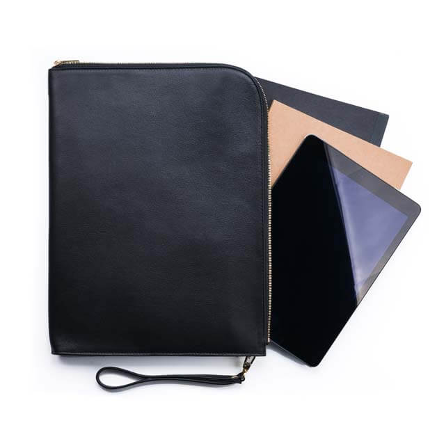 Maverick & Co. Black Atlas Macbook Clutch