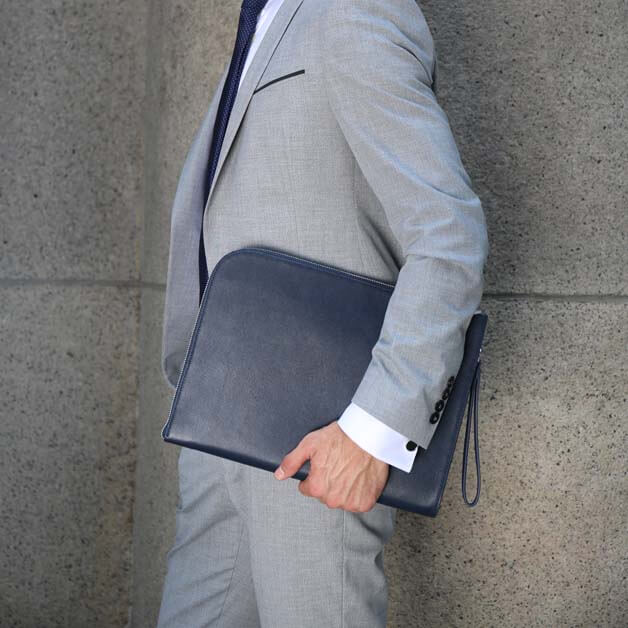 Maverick & Co. Navy Atlas Macbook Clutch