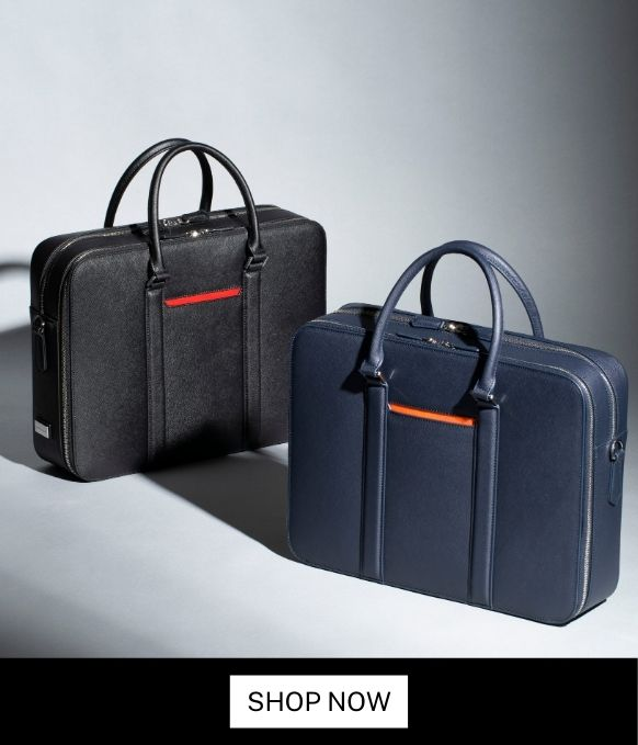 Maverick & Co. Manhattan Double-Zip Leather Briefcase