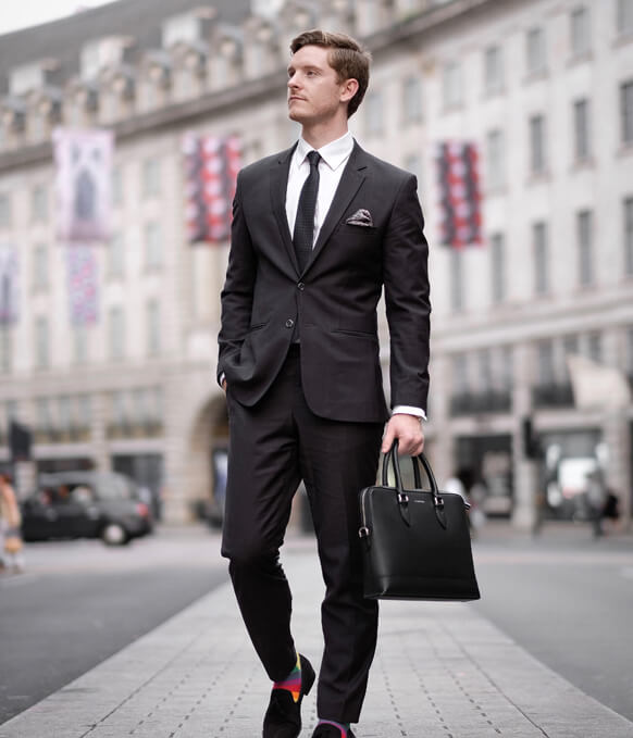 Maverick & Co. Black Metropolitan Slim Briefcase