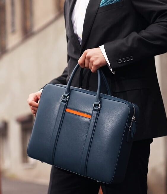 Maverick & Co. Deluxe Leather Briefcase