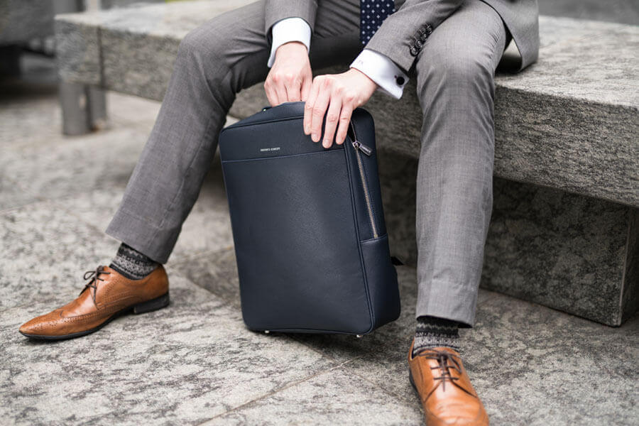 Maverick & Co. Navy Metropolitan Business Backpack