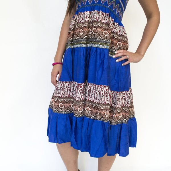 Blue Sarong Dress