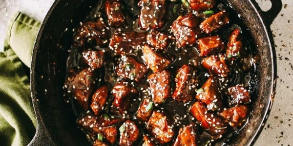 Honey Garlic Halal Steak Bites