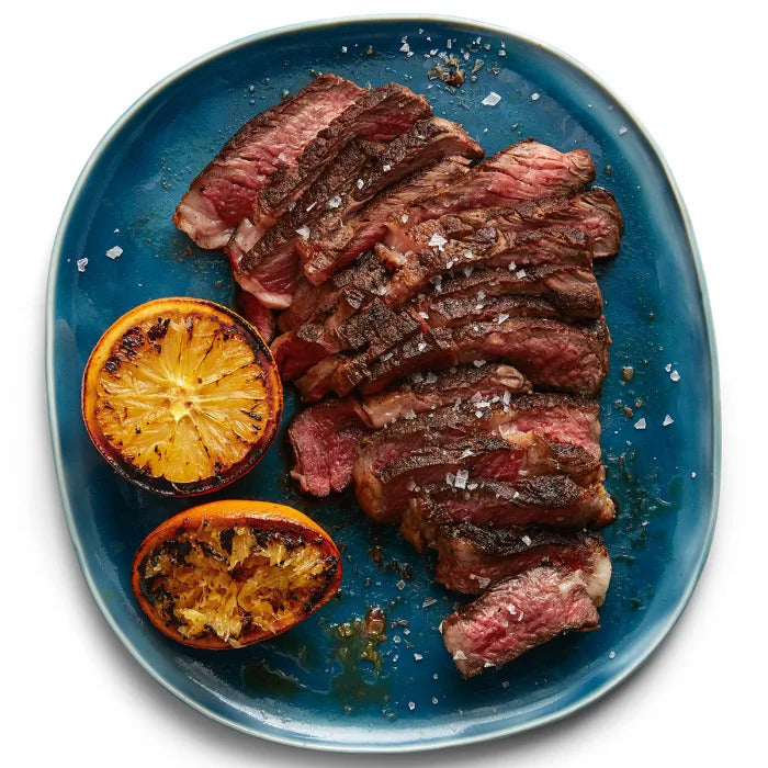 Moroccan Style Halal Ribeye Steak with Cooked Orange Juice