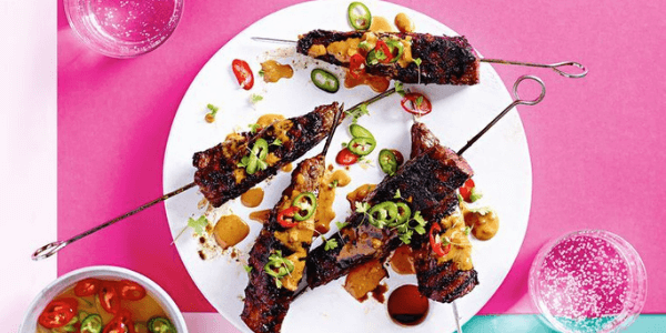 Halal Steak Satay Skewers