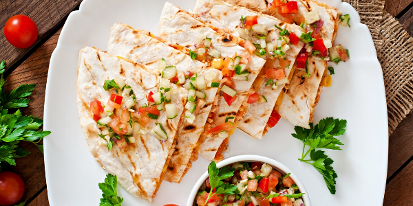 Periperi Halal Chicken Quesadillas