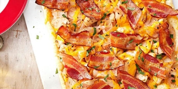 Easy Halal Chicken and Beef Bacon Tart