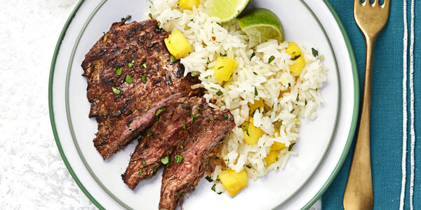 Chili Halal Steak with Hawaiian Rice