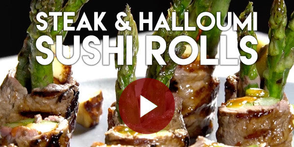 Steak and Halloumi Sushi Rolls