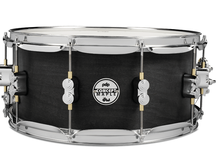 PDP Concept Black Wax Snare Drum 14x6.5""