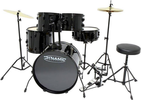 "Starter Drum Kit GEWA Basix Dynamic one 20"" Black on Black"