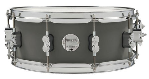 "PDP Concept Maple 14x5.5"" Snare Drum Satin Pewter"