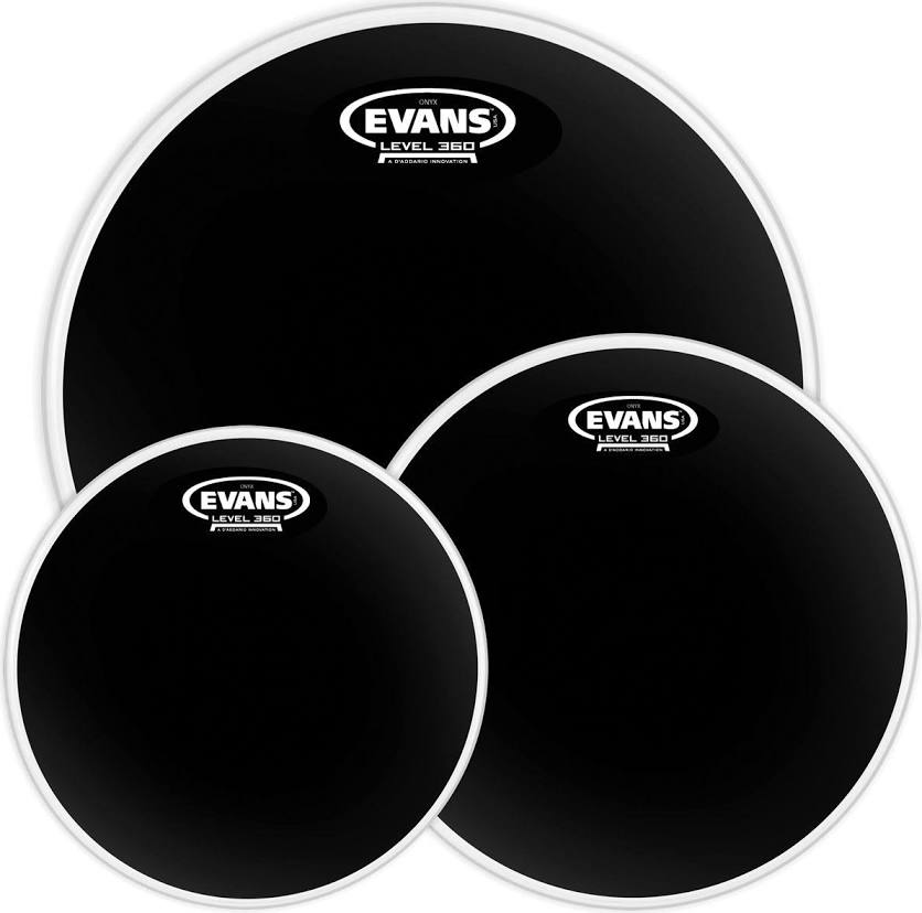 Evans Black Chrome Tompack, Rock (10 inch, 12 inch, 16 inch) | BW Drum Shop