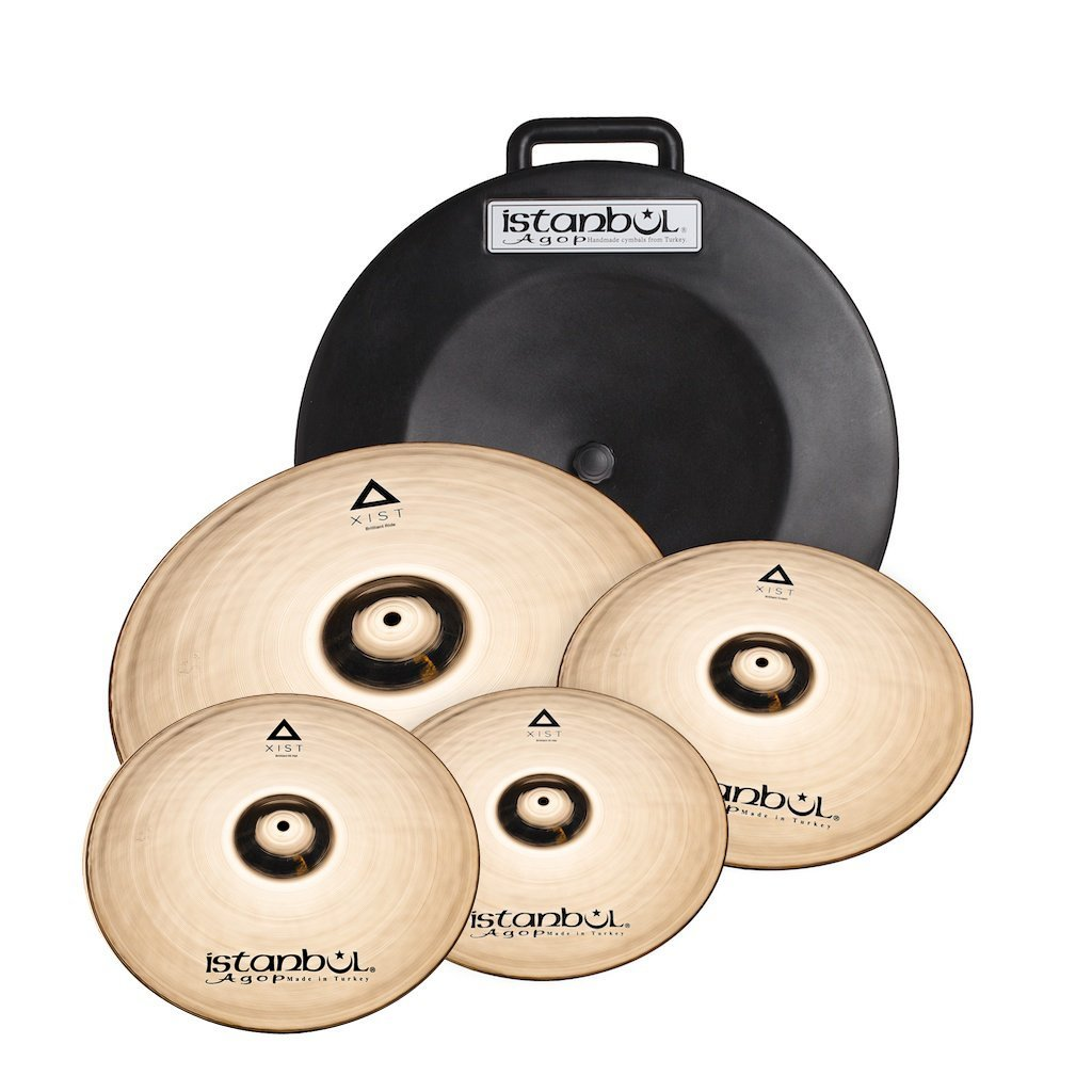 "Istanbul IXCSB XIST Brilliant Cymbal Set with Soft Case and FREE 18"" Crash"