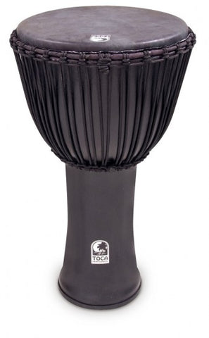 "Toca 14"" Djembe Freestyle Rope Tuned Black Mamba with Bag"
