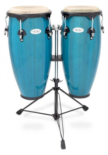 "Toca 2300BB 10"" and 11"" Synergy Series Bahama Blue Conga Set"