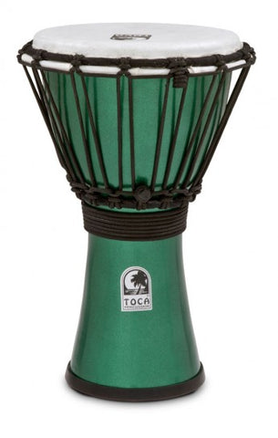 "Toca 7"" Djembe Freestyle Colorsound Metallic Green"