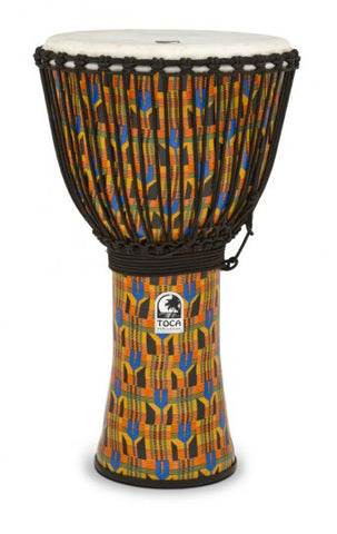 "Toca 14"" Djembe SFDJ-14K Freestyle Rope Tuned Kente Cloth with Bag"