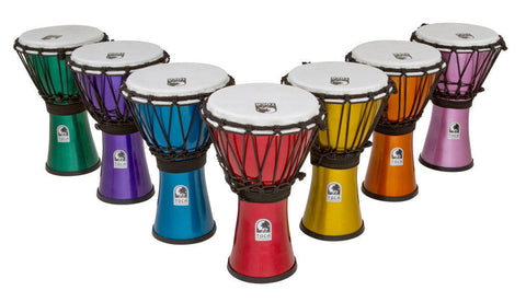 "Toca TFCDJ-7MS 7"" Djembe Freestyle Colorsound Set of Seven"