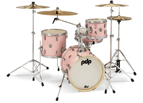 PDP New Yorker (Shells Only) Pale Rose Sparkle Drum Kit