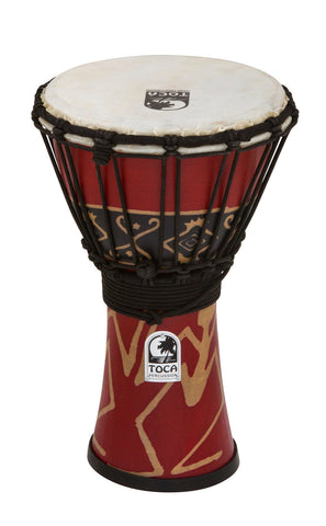"Toca 12"" Freestyle Rope Tuned Djembe in Bali Red SFDJ-12RP"