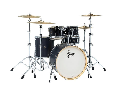 "Gretsch CS1-E625_ES Catalina Birch Ebony Satin Ltd 22"" 5 Piece Drum Kit"