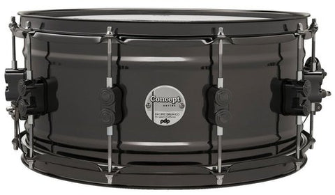 PDP Concept Black Nickel Over Brass 14 x 6.5 Snare Drum PDSN6514SSBNB